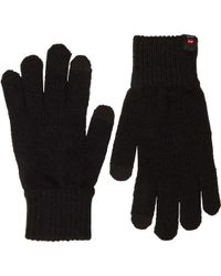 d85f915617a699 River Island Black Leather Perforated Gloves in Black for Men - Lyst
