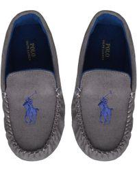 Ralph Lauren - Dezi Moccasin Slippers Grey - Lyst