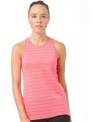 New Balance | Stripe Mesh Tunic Running Tank Pink Zing | Lyst