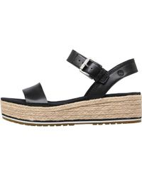 Timberland - Santorini Sun Ankle Strap Wedge Sandals Black - Lyst
