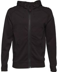 Duck and Cover - Helm Double Faced Zip Through Hoody Black - Lyst