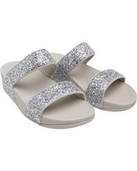 Fitflop - Glitterball Slide Sandals Silver - Lyst