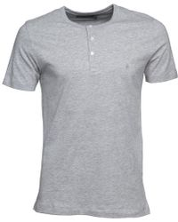 French Connection - Tg Dad T-shirt Light Grey Melange - Lyst
