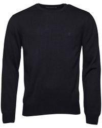 French Connection - Cash Crew Neck Knit Top Marine - Lyst