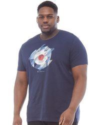 9b5c97ace8e Ben Sherman - Plus Size Target Chevron Gingham T-shirt Dark Navy - Lyst