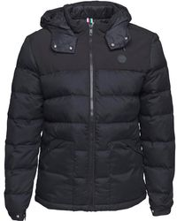 Bench - Wool Look Down Puffer Jacket Black - Lyst