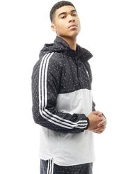 adidas Originals - Pharrell Williams Hu Woven Hoody Black/white - Lyst