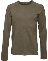 Jack & Jones - Union Knitted Jumper Olive Night - Lyst