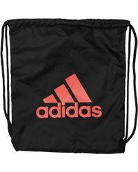 adidas - Performance Logo Drawstring Bag Black/black/energy - Lyst
