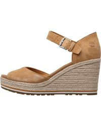Timberland - Nice Coast Ankle Strap Wedge Sandals Mid Beige - Lyst