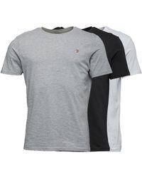 Farah - Merion Three Pack Lounge T-shirt Black/white/grey - Lyst