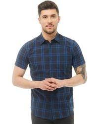 Jack & Jones - Fischer Short Sleeve Shirt Blue Depths - Lyst