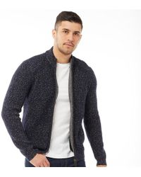 Ted Baker - Akela Long Sleeve Funnel Neck Cardigan Navy - Lyst