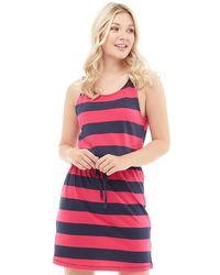 ONLY - May Sleeveless Dress Virtual Pink/black Night Sky - Lyst