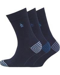 Original Penguin - Three Pack Socks Light Marine - Lyst
