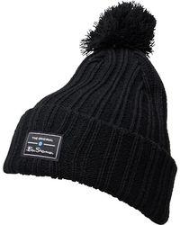 Ben Sherman - Mccree Bobble Hat Black - Lyst