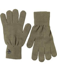 Original Penguin - Rib Gloves Burnt Olive - Lyst