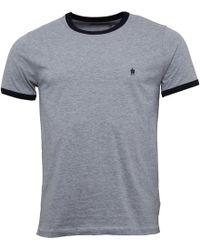 French Connection - Fcuk Ringer T-shirt Light Grey Melange - Lyst