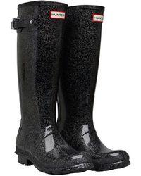 HUNTER - Original Starcloud Tall Wellington Boots Black Multi - Lyst