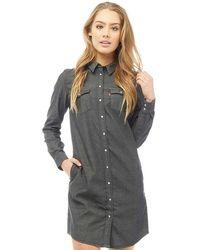 Levi's - Long Sleeve Iconic Western Dress Super Dark Authentic - Lyst