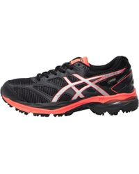 Asics - Gel Pulse 8 Gore Tex Neutral Running Shoes Black/silver/flash Coral - Lyst