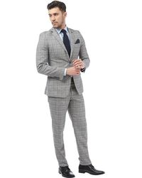 French Connection - Tweed Two Piece Suit Grey - Lyst