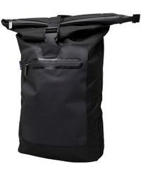 Ben Sherman - Roll Top Backpack Black/grey - Lyst