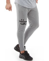 Under Armour - Mk1 Terry Tapered Sweat Trousers Steel/black - Lyst