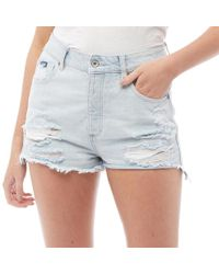 e523fa06e213c Superdry - Hannah Super Ripped Shorts Bleach - Lyst