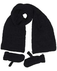 adidas Originals - Gloves And Scarf Set Black - Lyst