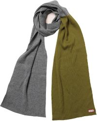 HUNTER - Original Moustache Merino Wool Scarf Slate/kelp - Lyst