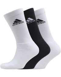adidas - Nba Three Pack Crew Socks White/white/black - Lyst