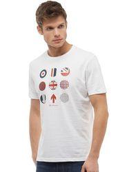 Ben Sherman - Heritage Britain Graphic T-shirt White - Lyst