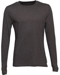 French Connection - Crew Neck Long Sleeve Top Charcoal Melange - Lyst