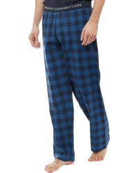 French Connection - Woven Lounge Trousers Light Blue/marine - Lyst