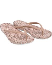 Fitflop - Iqushion Ergonomic Flip Flops Nude Bubbles - Lyst