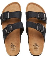 Original Penguin - Port Sandals Black - Lyst