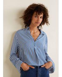 Mango - Printed Flowy Shirt - Lyst