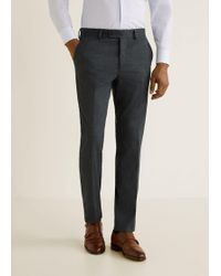 Mango - Textured Slim-fit Suit Trousers - Lyst