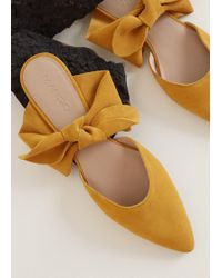 Mango - Bow Leather Shoes - Lyst