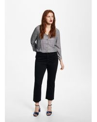 Violeta by Mango - Prince Of Wales Blouse - Lyst
