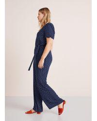 Violeta by Mango - Long Printed Jumpsuit - Lyst