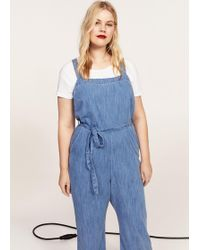 Violeta by Mango - Denim Jumpsuit - Lyst