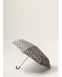Mango - Leopard Print Umbrella Medium Brown - Lyst