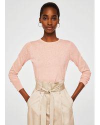 Mango - Swiss Tulle Panel Sweater - Lyst
