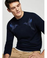 Mango - Embroidered Sweater - Lyst