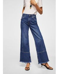 Mango | Frayed Relaxed Jeans | Lyst