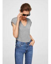 Mango - Mercerised T-shirt - Lyst
