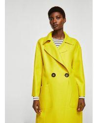 Mango - Unstructured Wool-blend Coat - Lyst
