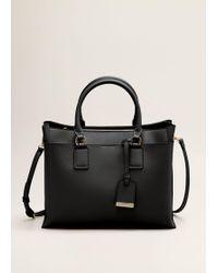 Mango - Saffiano-effect Shopper Bag - Lyst